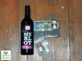 Duurzaam kerstpakket wijn en bottle light