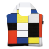 Ecozz opvouwbare shopper met Composition A van Mondriaan
