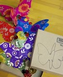 Fairtrade papieren vlinder slinger