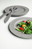 Zuperzozial dinerbord van bamboe Hammered Grey