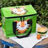 Koel lunchtasje met tijgerprint gemaakt van gerecycled plastic