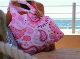 Ecozz roze opvouwbare tas met paisely print