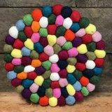 Sjaal met Verhaal onderzetter van vilt multicolour