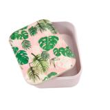 Bamboe brooddoos - lunchbox met palmbladeren print