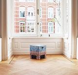 Dutch Design Chair Vintage, kartonnen krukje