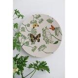 Bamboe dinerbord met vlinders, large bite plate botanic