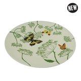 Zuperzozial large bite plate botanic, bamboe dinerbord met vlinders