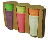 Bamboe XL bekers in assorti kleuren van Zuperzozial