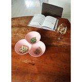Zuperzozial Grab a snack, 3 vaks schaal in roze