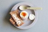 Dippy Egg eierdop in grijs van Zuperzozial
