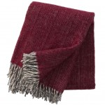 KLippan deken Bjork cherry, ecowol deken rood