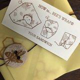 Bee's Wrap sandwich wraps lunchverpakking uitleg