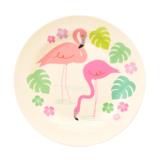 Bamboe ontbijtbordje Flamingo Bay