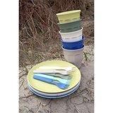 Zuperzozial Breeze bekers, bordjes en vorkjes van bamboe