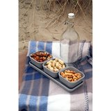Zuperzozial triple treat Stone Grey, grijze bamboe snackset