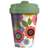 Bamboocup  bamboe koffie to go beker flowers