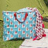 Jumbo Bag: XL shopping bag met lama print