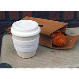 Witte bamboe koffiebeker Zuperzozial