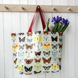 Grote boodschappentas met vlinder print