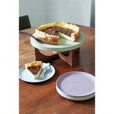 Cake tray van bamboe met gebaksbordjes Zuperzozial GreenPicnic