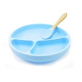 Minikoioi blauw vakkenbord met lepel