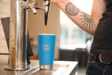 Grote dubbelwandige drinkbeker in blauw van Klean Kanteen