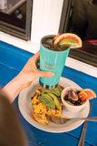 Grote dubbelwandige drinkbeker in turquoise van Klean Kanteen