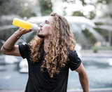 Dopper duurzame drinkfles geel