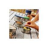 U-KOnserve Round nesting trio containers met gekleurde deksels