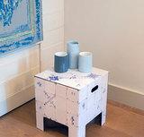 Dutch Design Chair Dutch Tiles, kartonnen krukje
