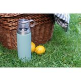 Cababaz thermosfles blauw met losse drinkbeker picknick