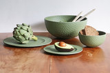 Zuperozial hammered moss green servies