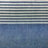 Mocco Traveler 9 close-up hamamdoek blauw, wit gestreept GreenPicnic