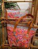 Sjaal met verhaal roze tassenserie Greenpicnic