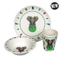 Zuperzozial kinderservies set, Mies to Go Hungry Kids Elephant