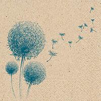 Naturals papieren servet Fly Away, 33x33cm gerecycled/ongebleekt