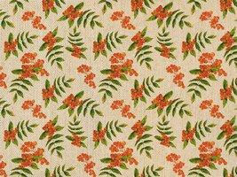 Naturals placemats Rowan Berry pattern gemaakt van vlas, set van 6