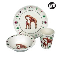 Zuperzozial kinderservies set, Mies to Go Hungry Kids Giraffe