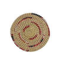 FairTrade onderzetter van Kaisagras met gerecylede sari