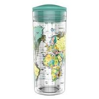 SlideCup Crystal Worldmap, lekvrije drinkbeker. BPA vrij.