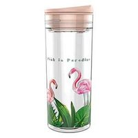 SlideCup Crystal Flamingo, lekvrije drinkbeker. BPA vrij.