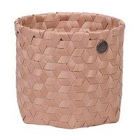 Handed By Basket Dimensional Copper Blush, mandje van gerecycled plastic