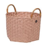 Handed By Basket Dimensional Copper Blush S, mand van gevlochten gerecyled plastic