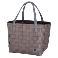Handed By Shopper Color Block Stone Brown van gerecycled plastic