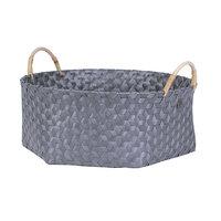 Handed By Basket Dimensional Dark Grey XL, grote mand van gerecycled plastic