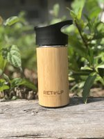 ReTulp Tumbler 250ml Bamboo Thermosfles - Bamboe drinkbeker