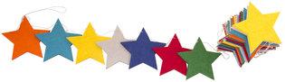 Global Affairs Felt Garland Stars, vilten sterren slinger