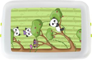 Biodora lunchbox van Bioplastic met panda print