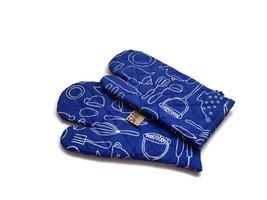 FairTrade ovenwanten van Sari - blauw