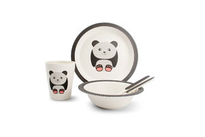 Bamboe kinder servies set Panda